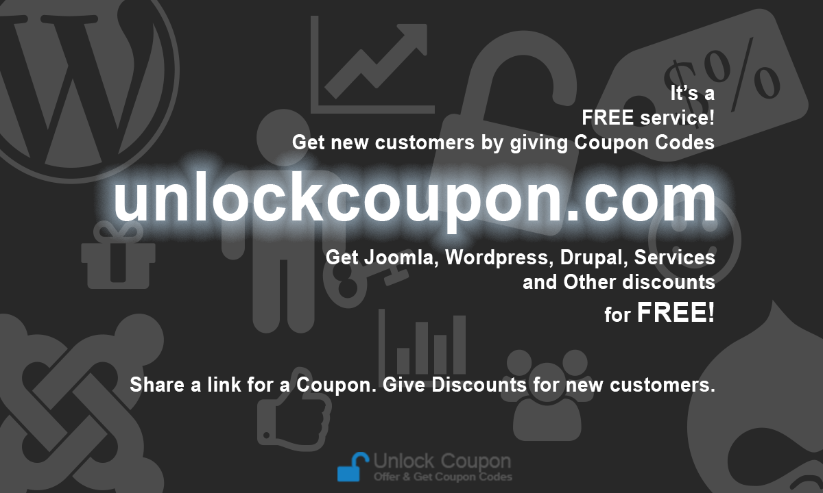 Get and Offer Coupon Codes on UnlockCoupon.com